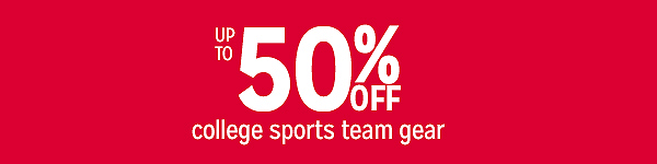Up to 50% college sports team gear
