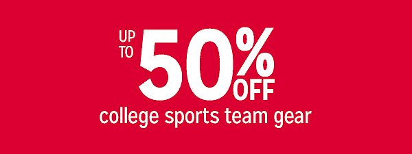 Up to 50% off college sports team gear
