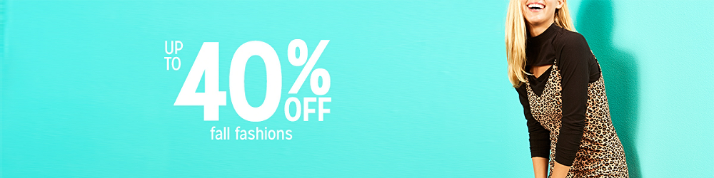 Up to 40% off Women's Clothing