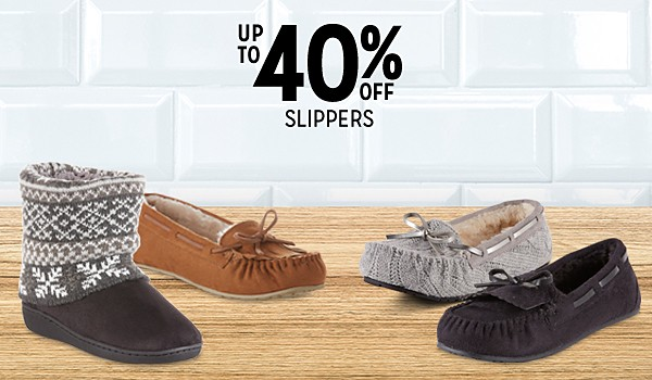 Up to 40% off women's slippers