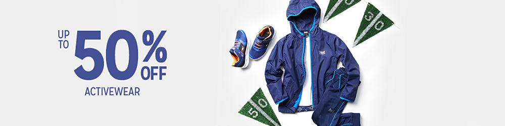 Up to 50% off Boys Activewear