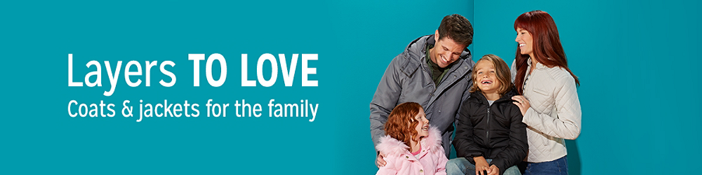 Layers to love! Shop coats & jackets for the family