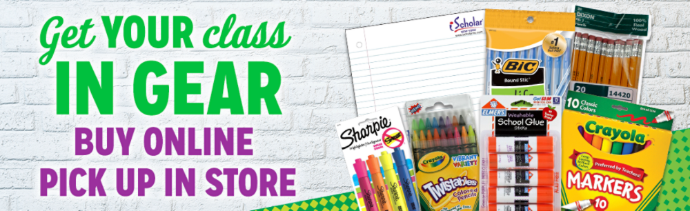 back to school supplies with code