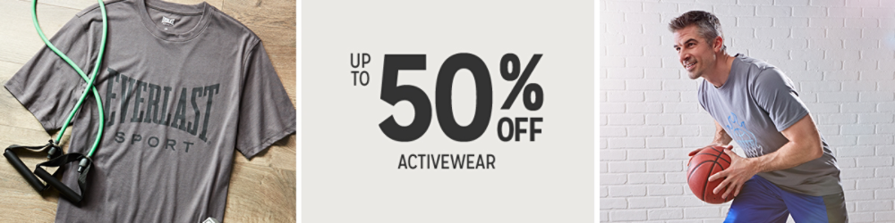 Up to 50% off Men's Activewear