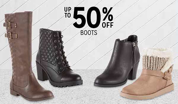 Up to 50% off women's boots