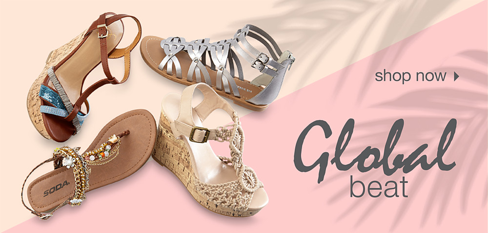 Global beat women's sandal trend at Kmart