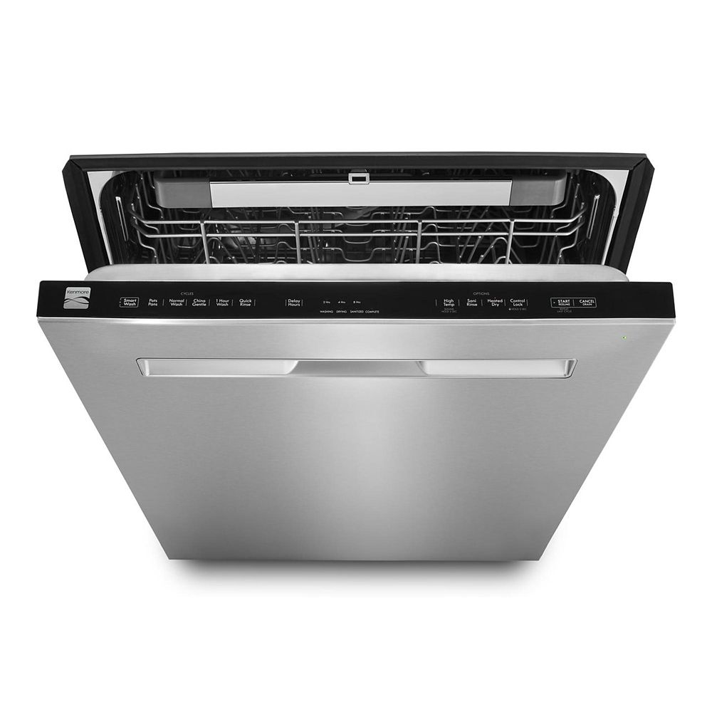 Third Rack Dishwasher with Long Pocket Handle
