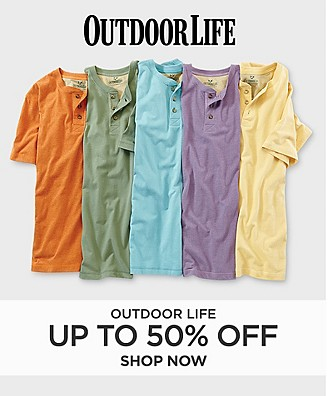 Save up to 50% off Outdoor Life