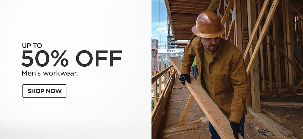 Up to 50% off Men's Workwear