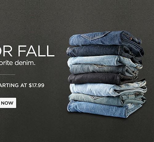Men's Jeans starting at $17.99