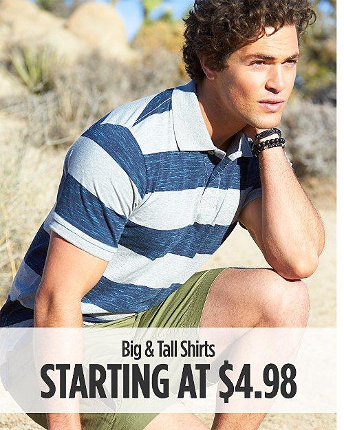Big & Tall Shirts Starting at $4.98
