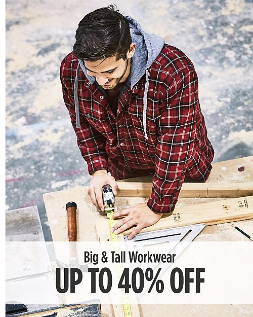 Up to 40% off Big & Tall Workwear