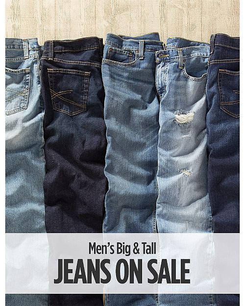 Big & Tall Jeans on Sale