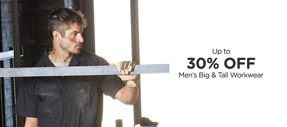 Up to 30% Off Men's Big & Tall Workwear
