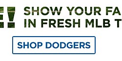 Gear, Here! Show your fan status in fresh MLB team attire! Shop Dodgers