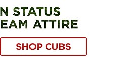 Gear, Here! Show your fan status in fresh MLB team attire! Shop Cubs