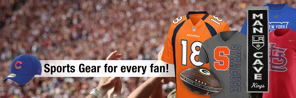 Sports gear for every fan