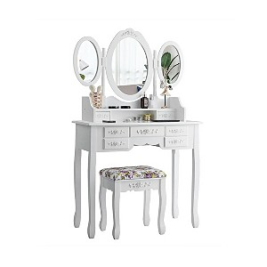 Up to 50% off select Gymax Vanity Sets plus free shipping