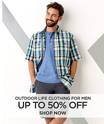 Up to 50% off Outdoor Life clothing for men