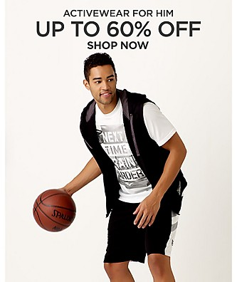 Up to 60% off Activewear for him