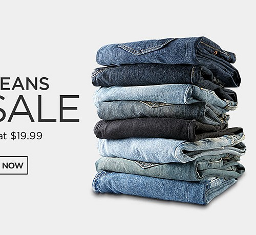 All Jeans On Sale For Him Starting At $19.99