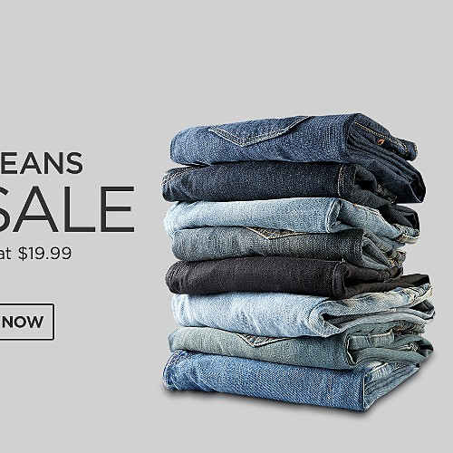 All Jeans on Sale for Him. Starting at $19.99