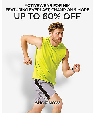 Up to 60% off Activewear for him featuring Everlast, Champion and more