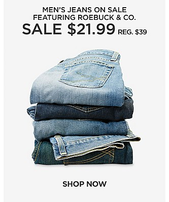 Men's jeans on sale. Featuring Roebuck & Co. Sale $21.99 reg. $39
