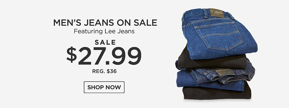 Men's Jeans on Sale featuring Lee Starting at $27.99, reg. $36. Shop Now.