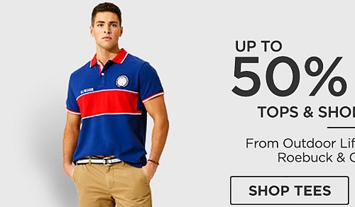Up to 50% off Tops & Shorts for him. Shop Tees