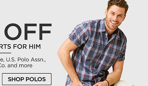 Up to 50% off Tops & Shorts for him. Shop Polos