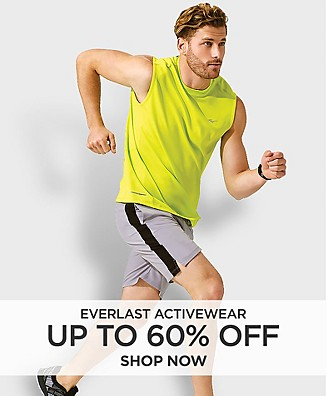 Up to 60% off Everlast Activewear for him