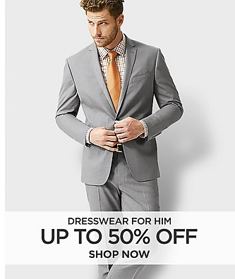 Up to 50% off dresswear for him
