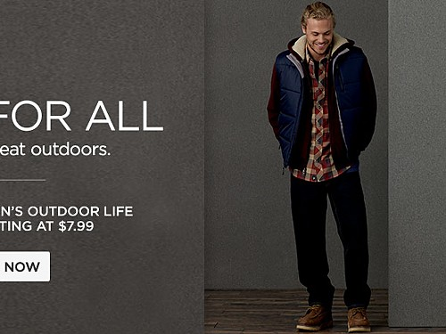 Up to 50% off Men's Outdoor Life. Starting at $7.99.