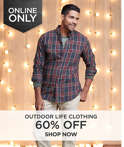 60% off Outdoor Life clothing for Men Online Only. Shop Now.