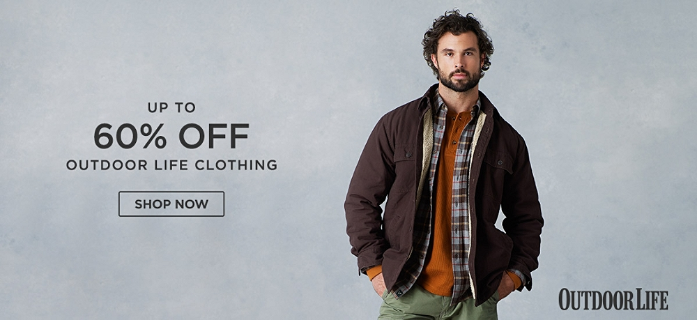 Up to 60% off Outdoor Life Clothing