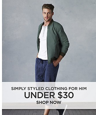 Simply Styled Clothing for Him Under $30