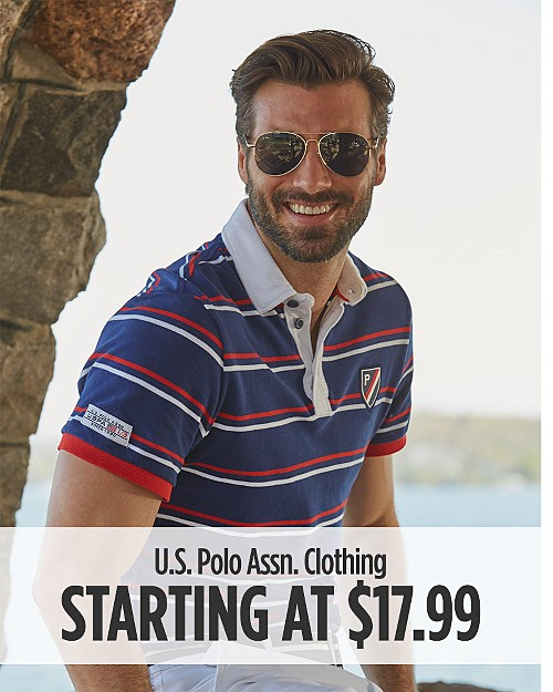U.S Polo Assn Clothing Starting at $17.99