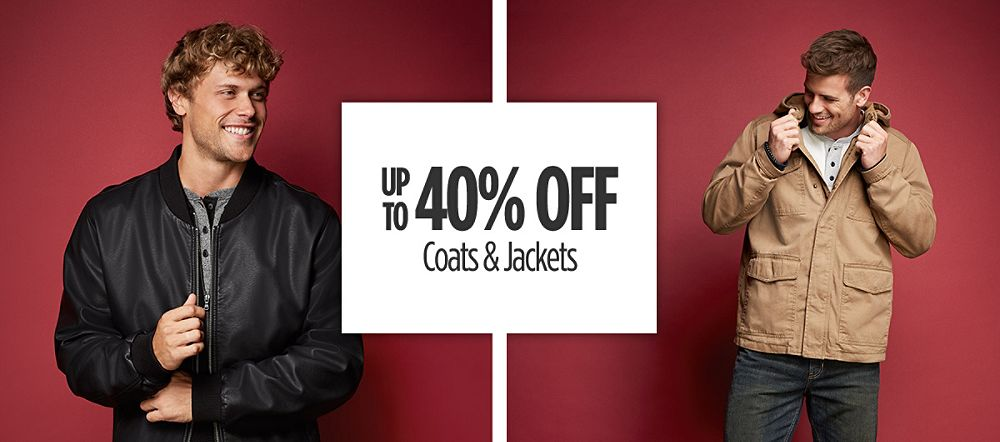 Up to 40% Off Coats & Jackets