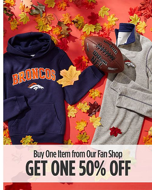 Buy one item from our Fan Shop, get one 50% off