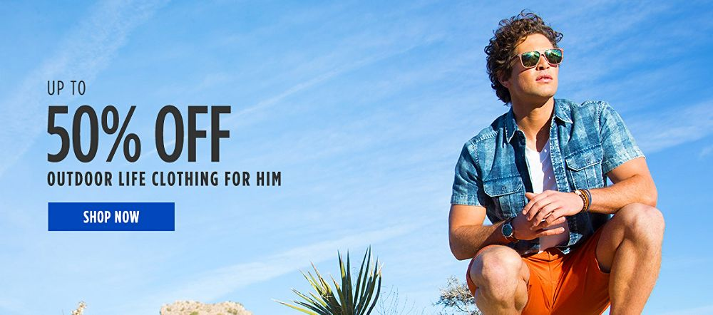 Up to 50% off Outdoor Life Clothing for Him