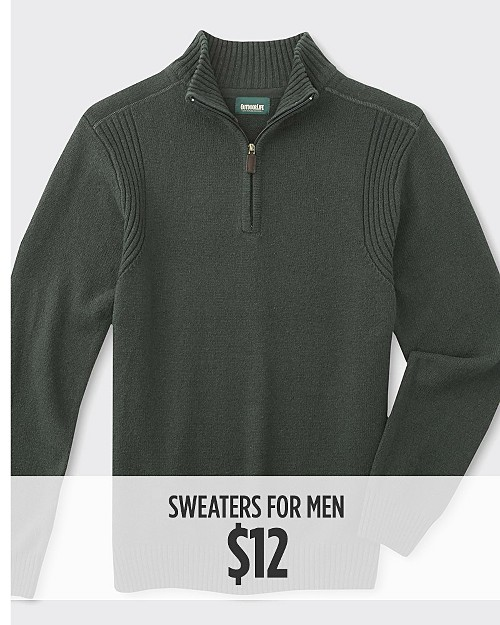 $12 Sweaters for Him. Shop now