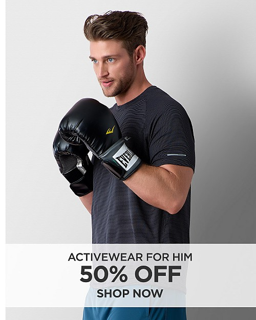 50% off Activewear for Him. Shop now