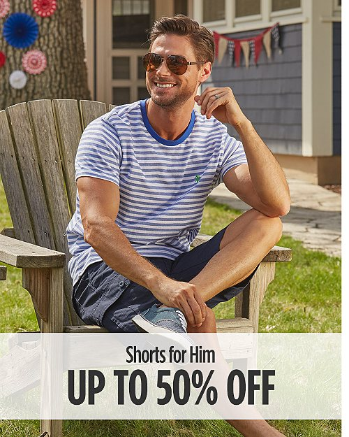 Up to 50% Off Shorts for Him