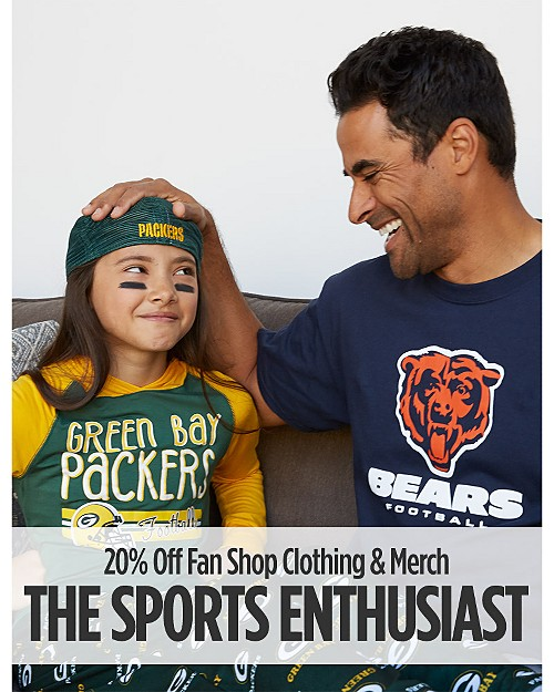 The Sports Enthusiast! 20% off Fan Shop Clothing & Merch