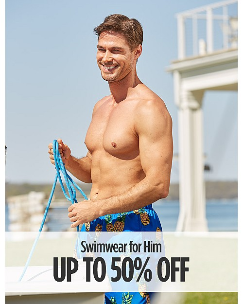 Up to 50% Off Swimwear For Him
