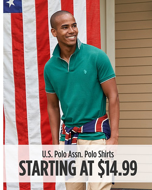 U.S Polo Assn. Polo Shirts Starting at $14.99