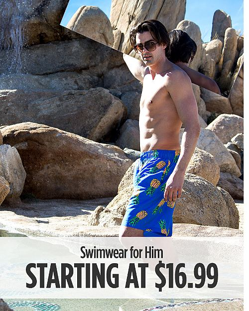 Swimwear starting at $16.99