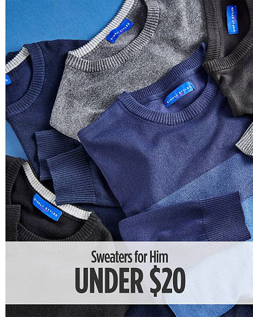 Sweaters for Him Under $20