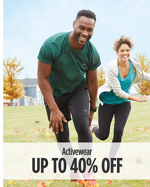 Up to 40% Off Activewear for Him